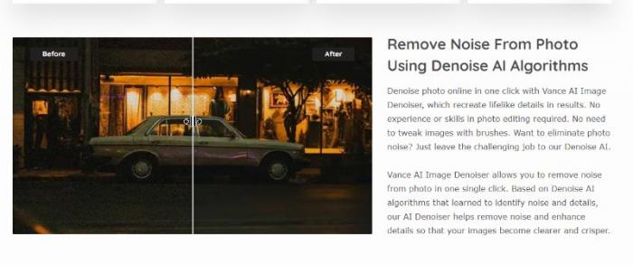 Vance AI Image Denoiser