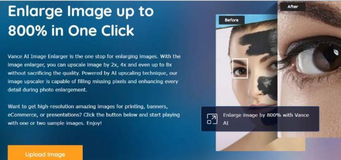 Vance AI Image Enlarger