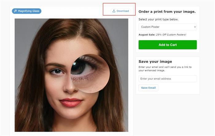 increase image resolution with Posterburner